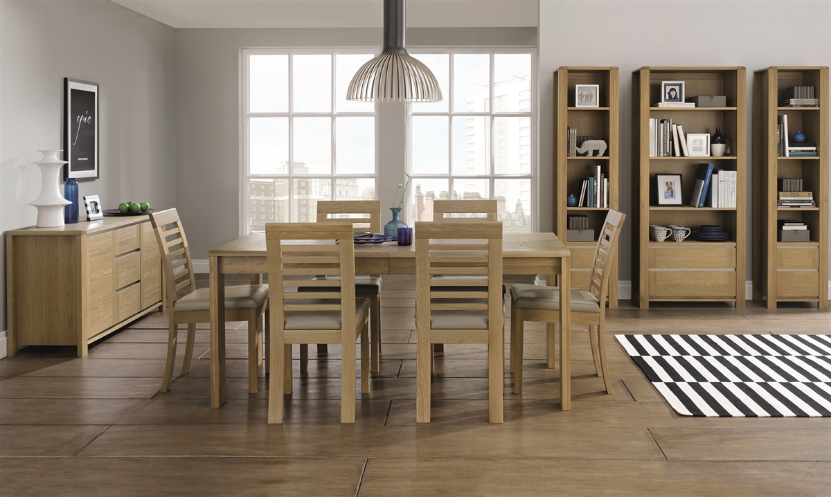CASA OAK AND COTTON MAIN WITH SLATTED CHAIRS