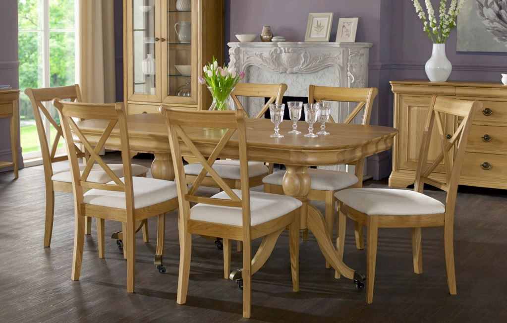 bentley designs chantilly oak dining set