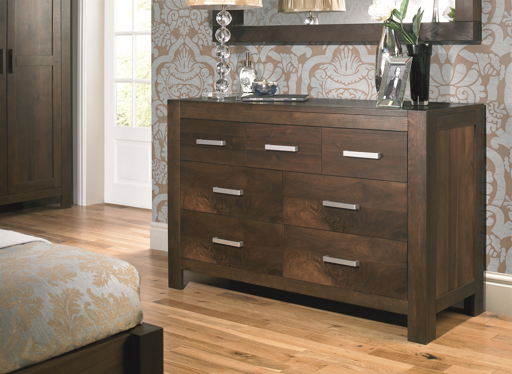 lyon 4 3 drawer chest. Walnut Bedroom Furniture Sets  Gfw Panama 3 Piece Bedroom Set