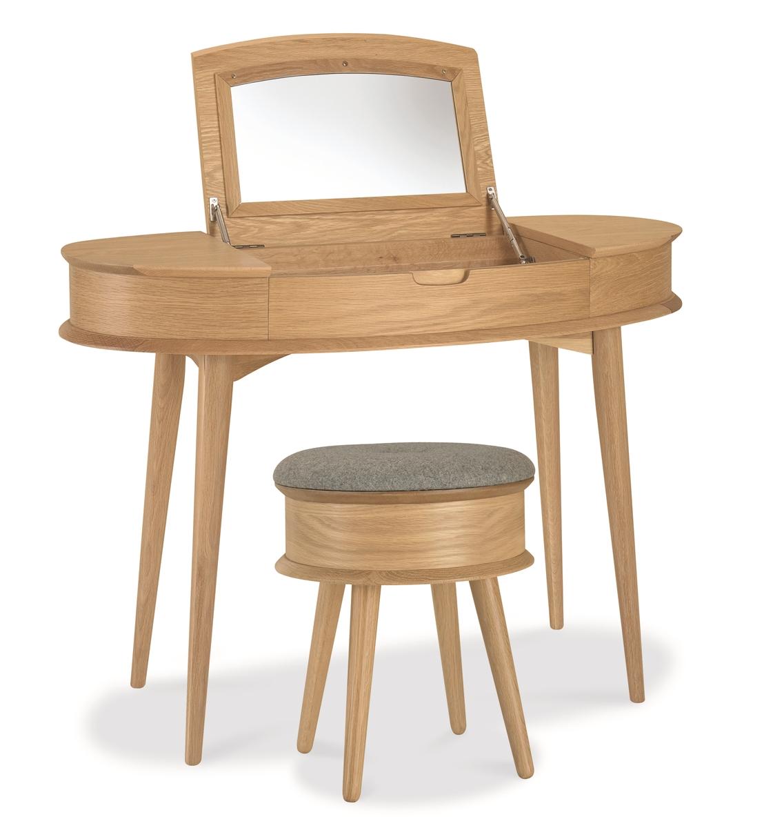 Orbit Dressing Table Open + Stool ...