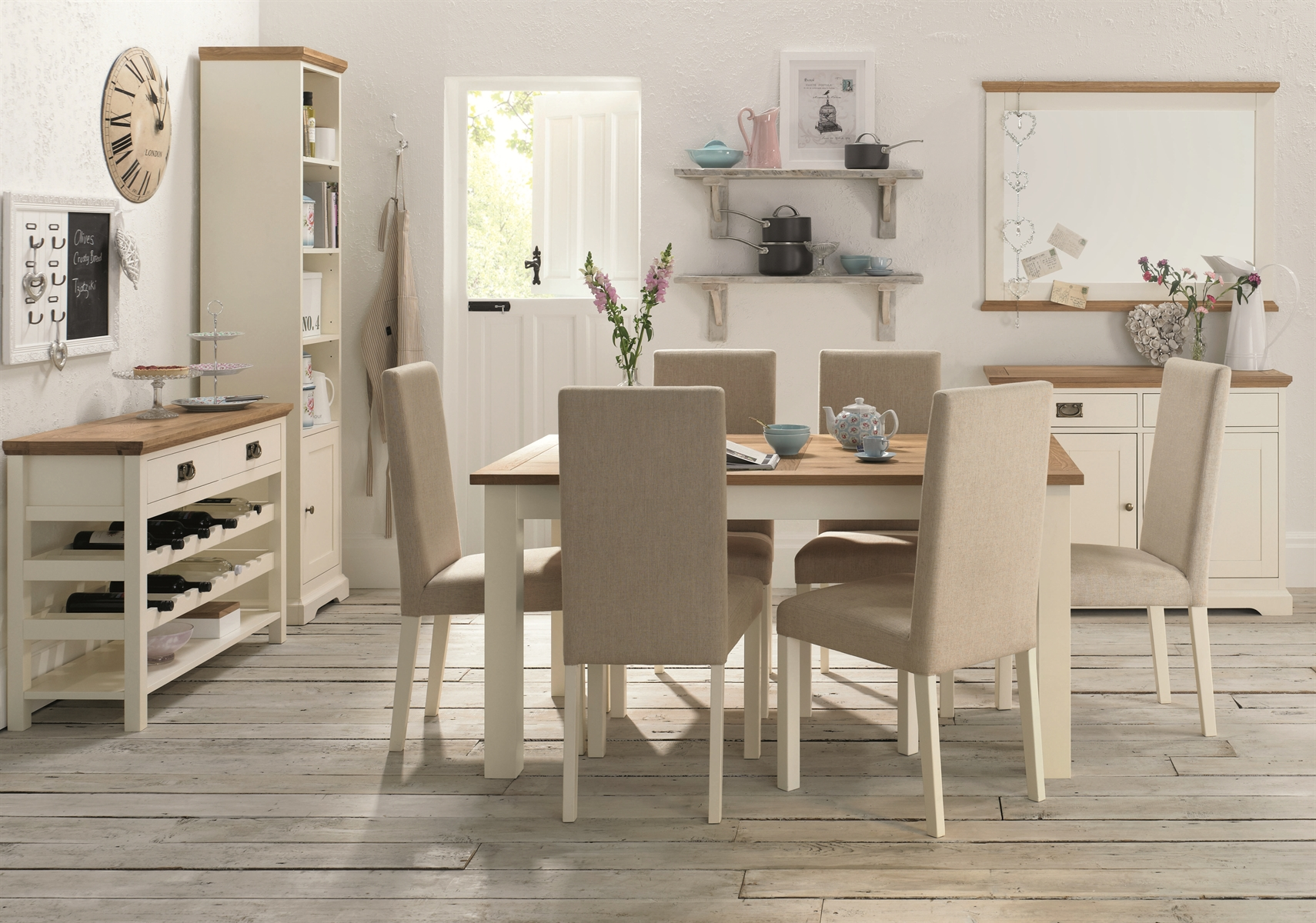 PROVENCE TWO TONE DINING SET
