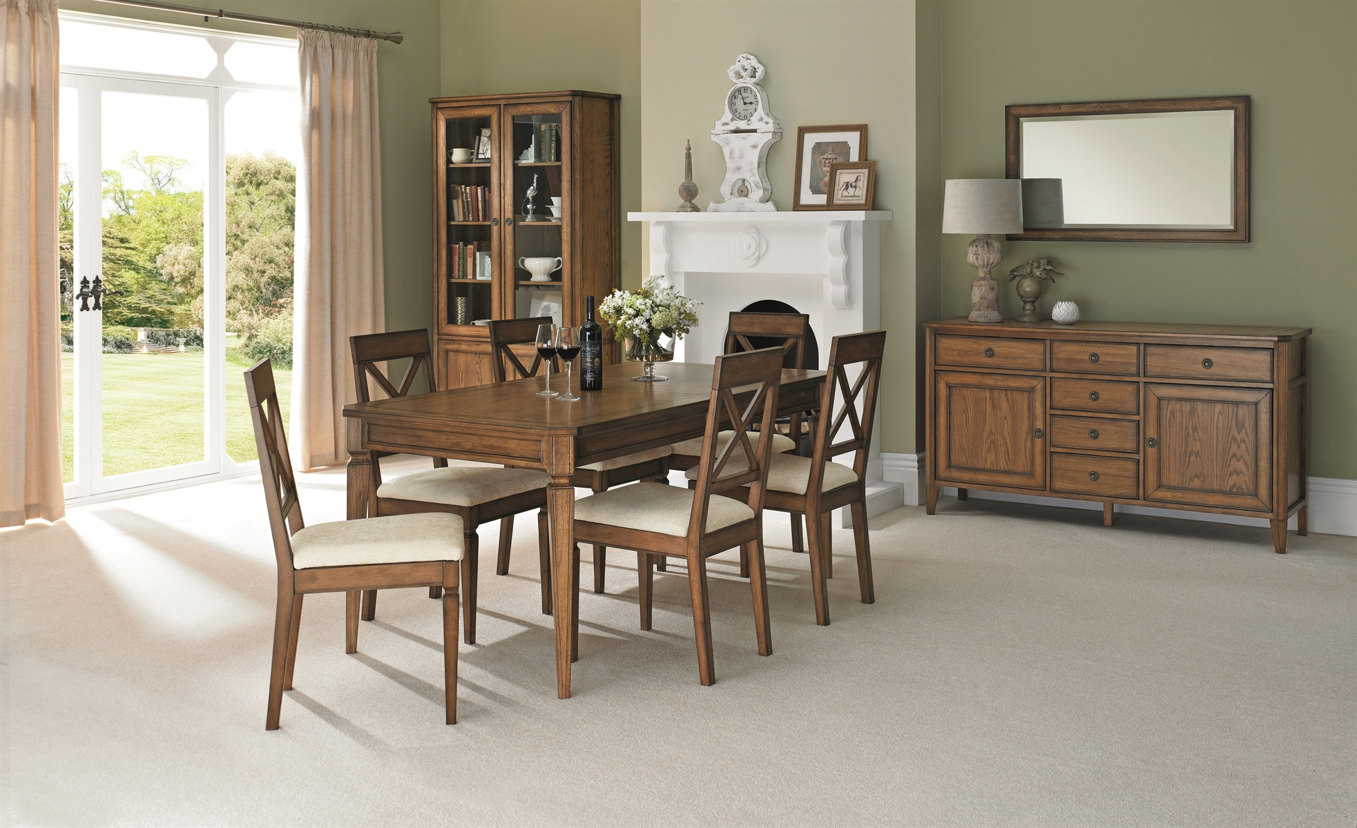 SOPHIA OAK DINING SET